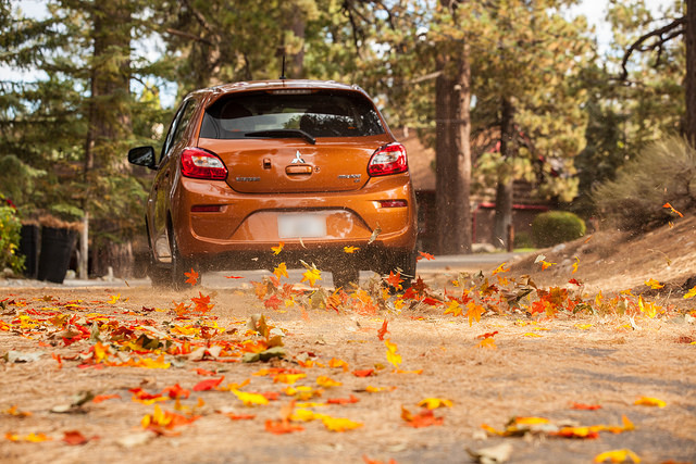 Colorful Fall Drives in Minnesota - 2017 Mitsubishi Mirage in St. Cloud
